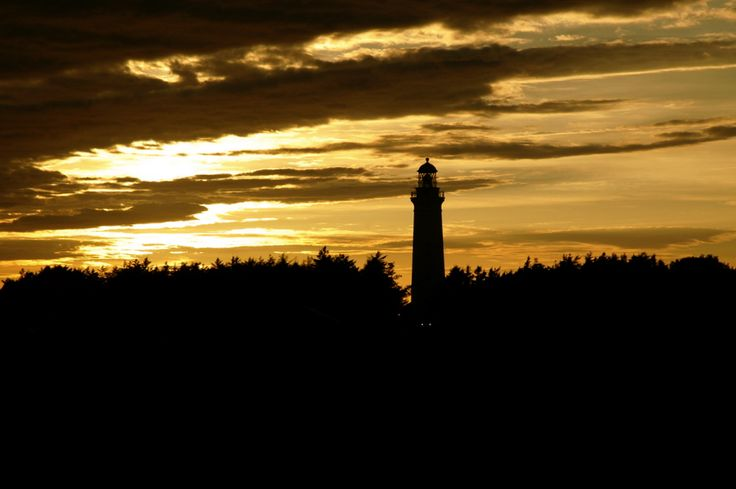 Silent Sunday: Sunset at Hirtshals lighthouse, Denmark