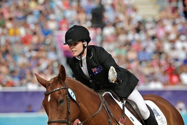 Gold medal at the Rio Olympics for Chloe Esposito competing in the Equestrian show jumping,  the 3rd of 5 disciplines in the Modern Pentathlon.