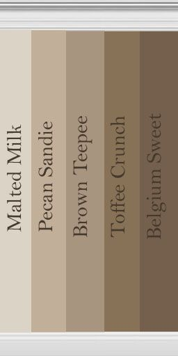 brown collection - Behr, for that inevitable bathroom redo...these are seriously the only colors in my house..lol