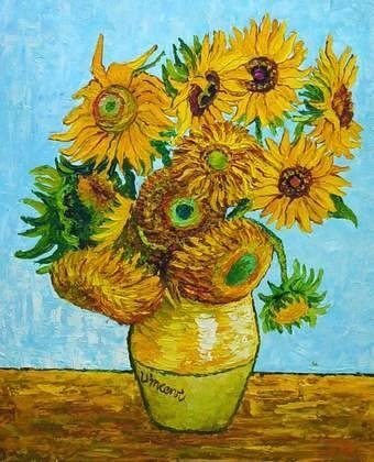 Van Gogh Canvas Oil Painting - Sun Flowers