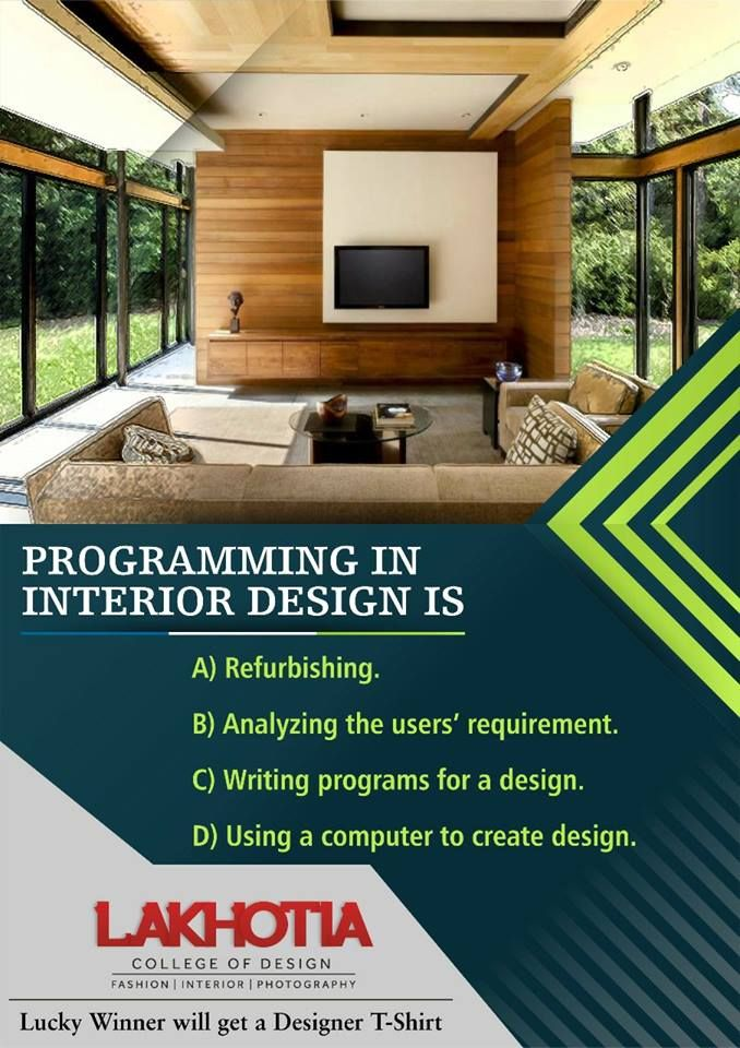 Interior Design Quiz Answer And Win Interior Design Is Becoming An Increasingly Viable Career Option For Creative Individuals Who Have A Flair F College Design