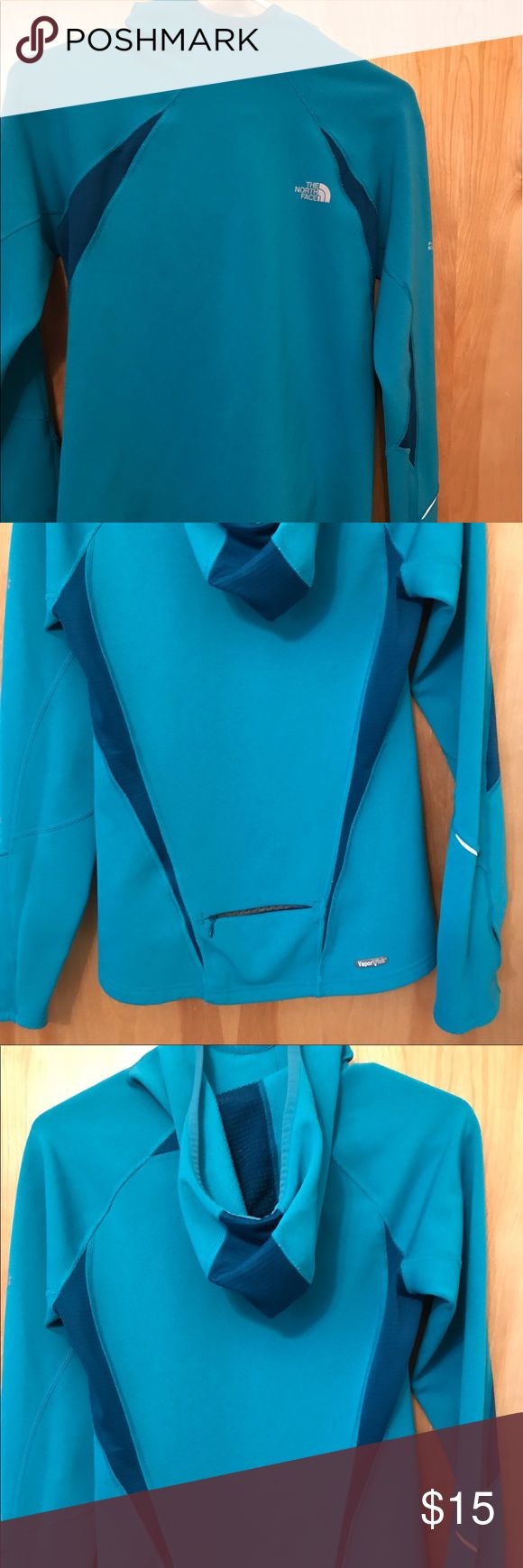 The North Face vapor wick running top Vapor wick, warm. Hardly worn. Slim fit The North Face Tops Sweatshirts & Hoodies