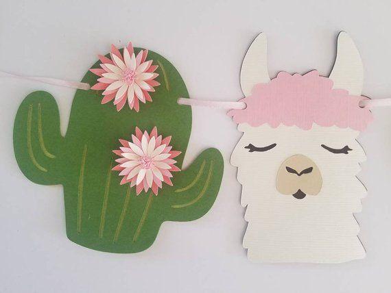 Llama banner, llama decoration, alpaca banner, alpaca decoration, llama cake, llama baby shower, llama cupcakes, mama llama, llama party