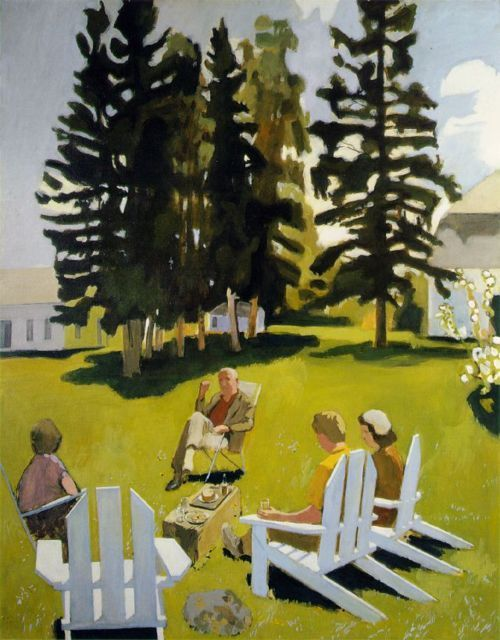 "Fairfield Porter ""July"", 1971 (USA, New York Figurative Expressionism, 20th cent.)"