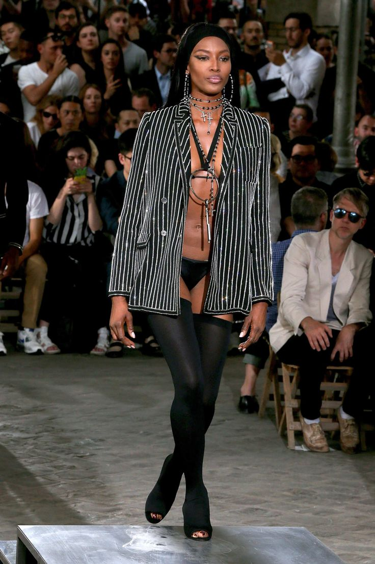 Naomi Campbell on the catwalk at the Givenchy Menswear Spring/Summer 2016 show as part of Paris Fashion Week on June 26, 2015 in Paris, France.