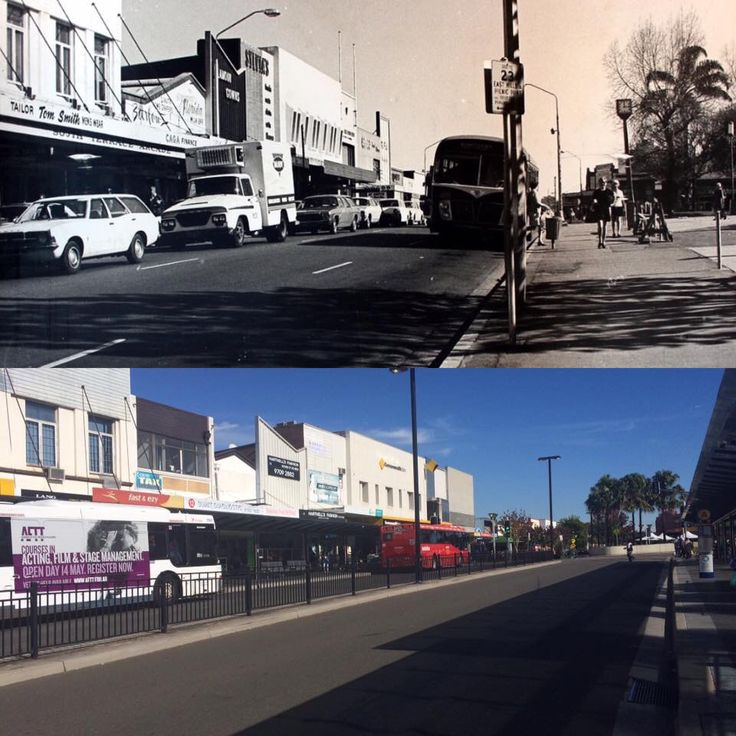 Looking West along South Terrace, Bankstown 1970 > 2016. [Bankstown Library & Knowledge Centre > Rayy Bk. By Rayy Bk]
