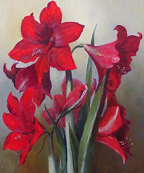 Flowers Oil Painted