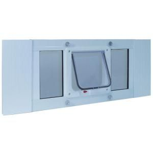 Ideal Pet 6.25 in. x 6.25 in. Small Cat Flap Frame Door for Installation into 23 to 28 in. Wide Sash Window 23SWDCF at The Home Depot - Mobile