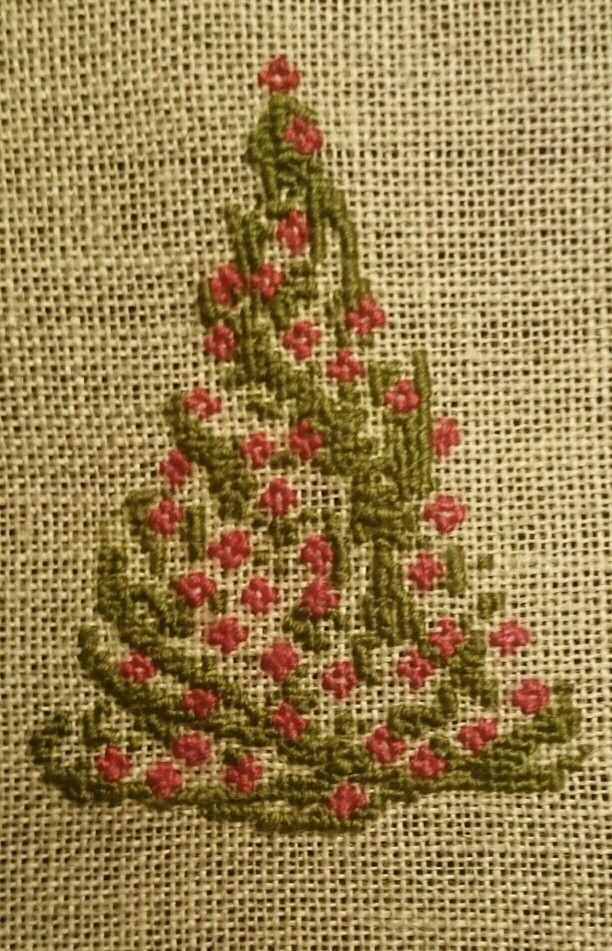 Christmass tree stitched