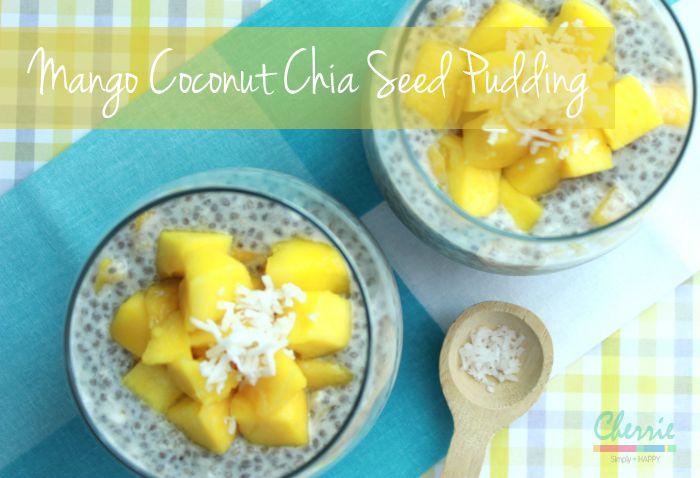 Mango Coconut Chia Seed Pudding