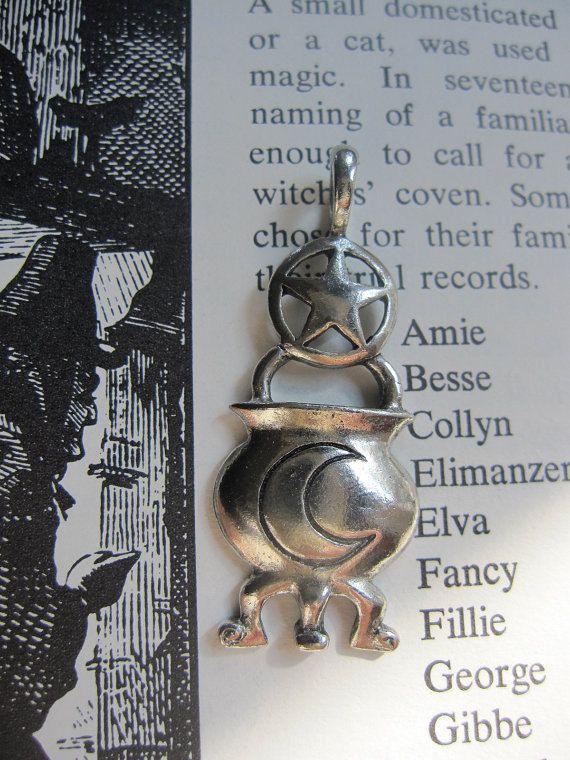 Moon Cauldron Pentacle Pendant. $9.00, via Etsy. (pretty cute, I think)