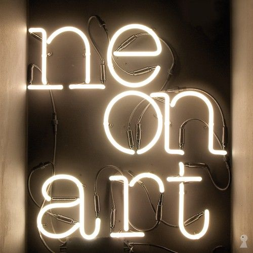 Neon art from Seletti. Build words with these cool neon lamps.
