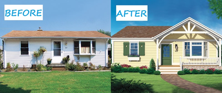Exterior Makeover A peak will make it not look like a portable..