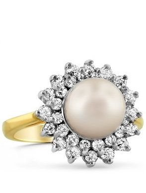 14K Yellow Gold Blanche Ring