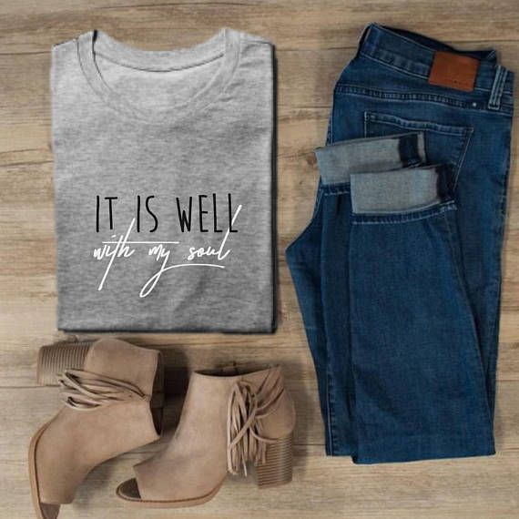 It is well with my soul Christian T-Shirt #Christian #christiantees #afflink