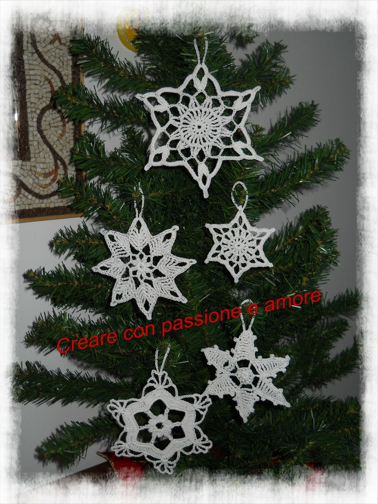 Stelle natalizie uncinetto by https://www.facebook.com/creareconpassioneeamore/