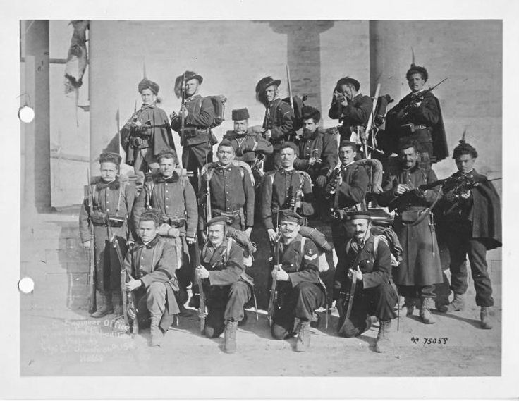 Italian soldiers, Bersaglieri, Marines, mounted Infantry and engineers in the Boxer Rebellion 1898-1900.