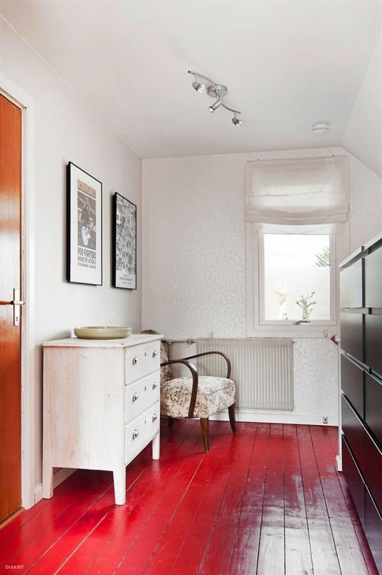 Red Floor Bathroom In 2018 Pinterest Flooring And Painted Floors