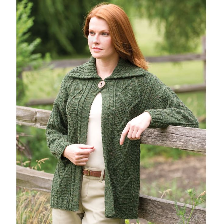 #Win a Lady's Irish Sweater Coat #HoppinHoliday Giveaway exp 12/29  Imported from Imported form County Mayo, Ireland, this lady's sweater provides the warmth needed during our long, cold mid-west winters. $160. (value)