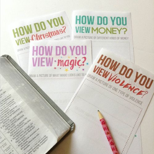 DIY Bible Tracts Activity
