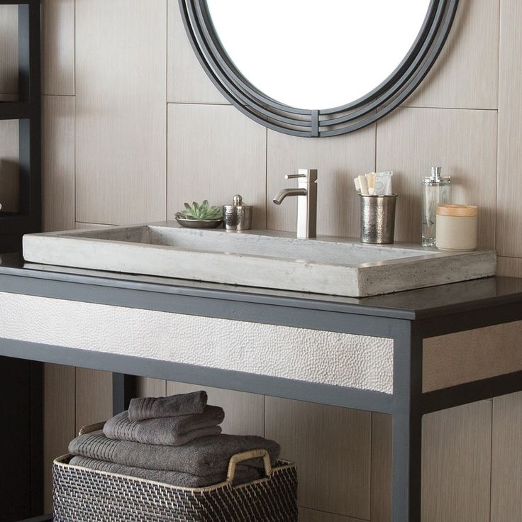 Trough 3619 - 36-Inch NativeStone® Rectangular Bathroom Sink