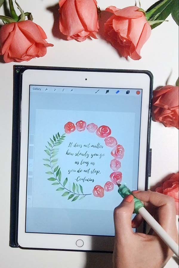 Paint Watercolor Wreaths On Your Ipad In Procreate Wreath