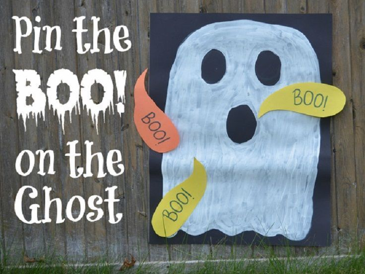 Pin the Boo! on the Ghost - 15 Super Fun DIY Halloween Party Games to Amuse the Entire Family
