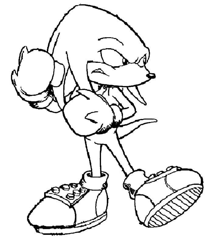 Sonic The Hedgehog Coloring Pages Knuckles