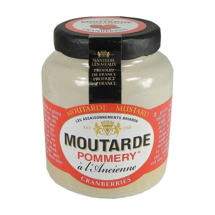 Pommery · Mustard w/ cranberries · 100g (3.5 oz)  #FrenchFood #FrenchCuisine #LeTablierbleu #TOPCHEFS