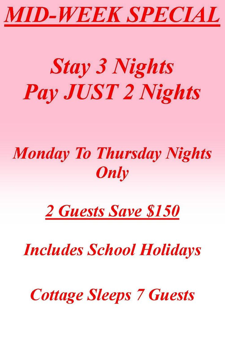 Mid Week Rates - Stay 3 Nights - Pay 2 Nights https://www.facebook.com/pages/MANSFIELD-COTTAGE-BARRINGTON-Barrington-Tops-Holiday-Accommodation/341811962165