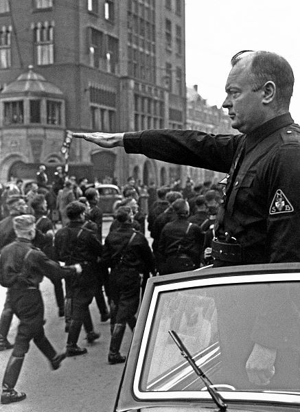 Anton Mussert, leader of the Dutch nazi party.