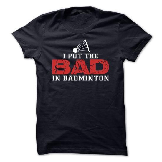 Badminton Tee T Shirts, Hoodies. Get it now ==► https://www.sunfrog.com/Sports/Badminton-Tee.html?41382