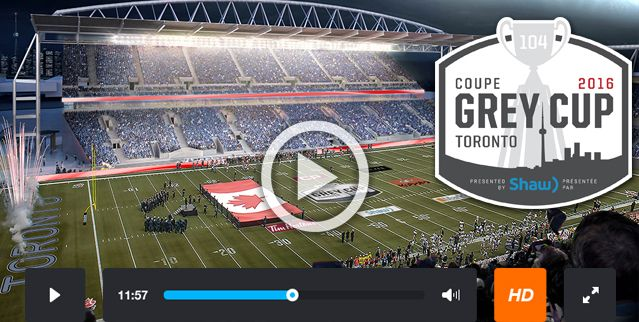 Grey Cup 2016 Streaming Online