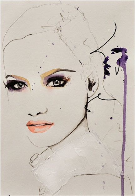 Savage Beauty  Fashion Illustration Art Print by LeighViner, $28.00