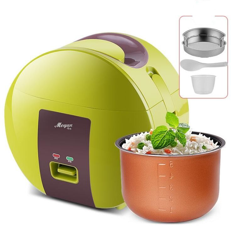 Free shipping 3 cups mini rice cooker steamer student dormitory home cooking machine microwave rice cookers lunch box 1-2 people