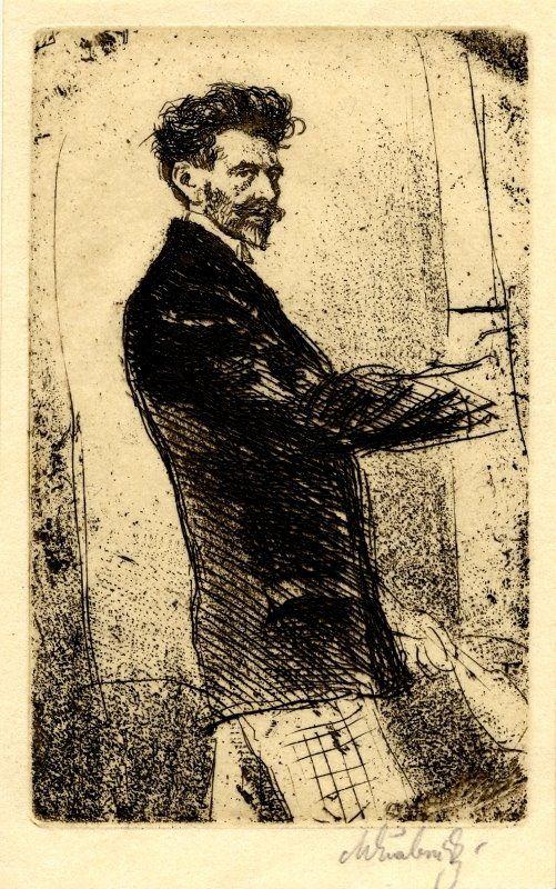 Max Švabinský (1873-1962) - self portrait
