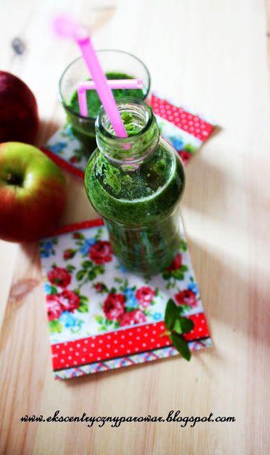 Ekscentryczny Parowar: Koktajl szpinakowo-jabłkowy z lnem