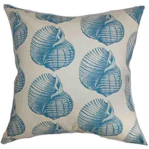 Bahari Aqua 18 x 18 Coastal Throw Pillow