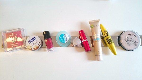 Kosmetik Aufbewahrung selber machen mit Magneten - Frantasiaaa Bastelblog