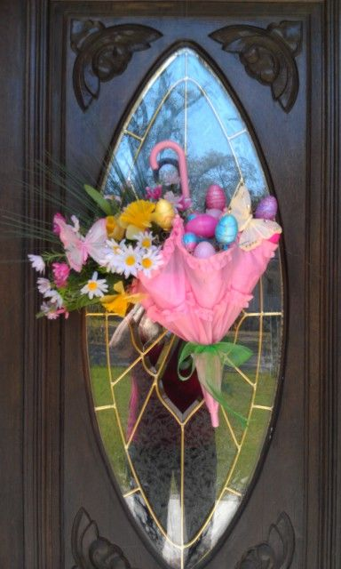Spring time door decoration