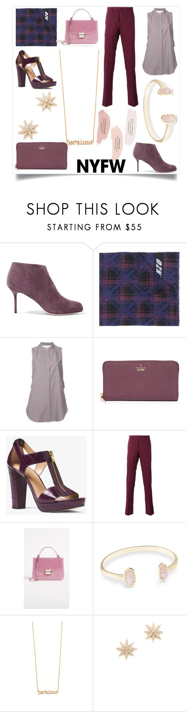 """""""Nothing haunts us like the things we didnt buy"""" by emmamegan-5678 ❤ liked on Polyvore featuring Sergio Rossi, Kenzo, 3.1 Phillip Lim, Kate Spade, MICHAEL Michael Kors, Incotex, Furla, Kendra Scott, Jennifer Meyer Jewelry and Elizabeth and James"""