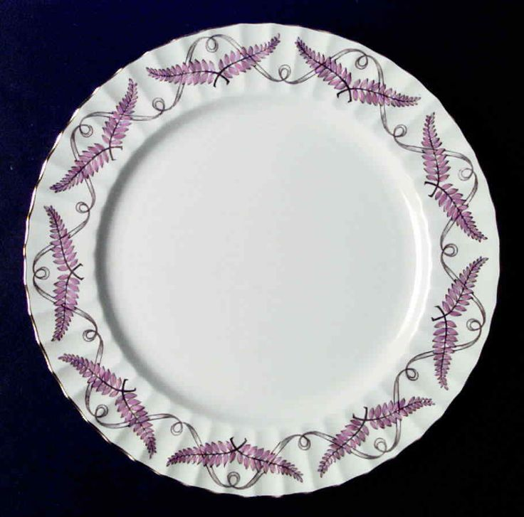 Royal Worcester FERNCROFT PINK Dinner Plate 636477  | eBay
