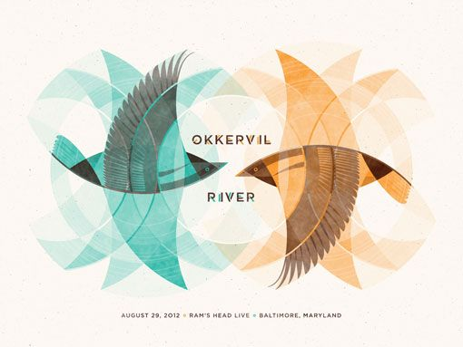 Okkervil Rivers, Gig Posters, Illustration, Posters Design, Art Prints, Graphics Design, Orioles, Birds, Dkng Studios