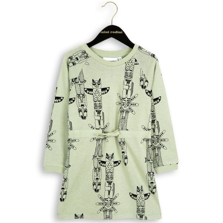 TOTEM LS SWEAT DRESS Grön via DELLEMYR. Click on the image to see more!