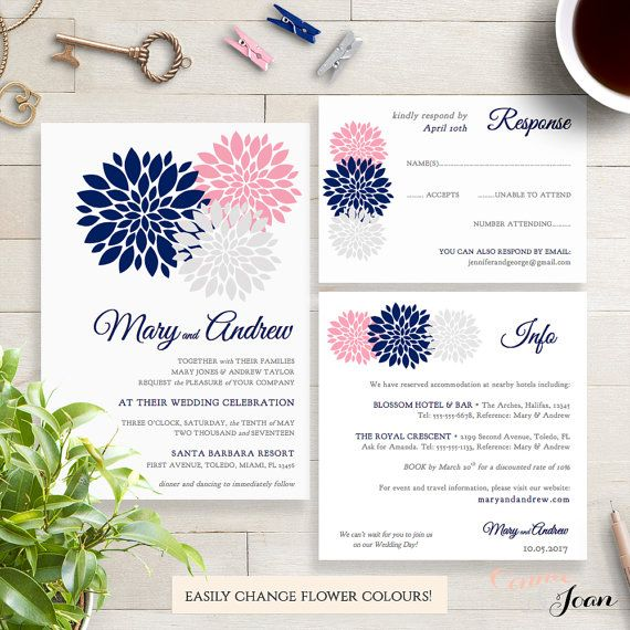 Hey, I found this really awesome Etsy listing at https://www.etsy.com/listing/275268560/navy-blue-pink-blush-silver-wedding