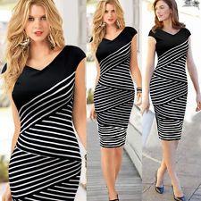 New Fashion Womens Elegant Slim Sexy Dress Evening Party Dress Plus Size