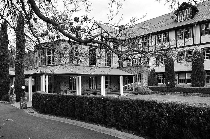 Historical Marybrooke Manor in the Dandenong Ranges. Circa 1940 built three story guest house with wedding reception dining room and 20 guest rooms