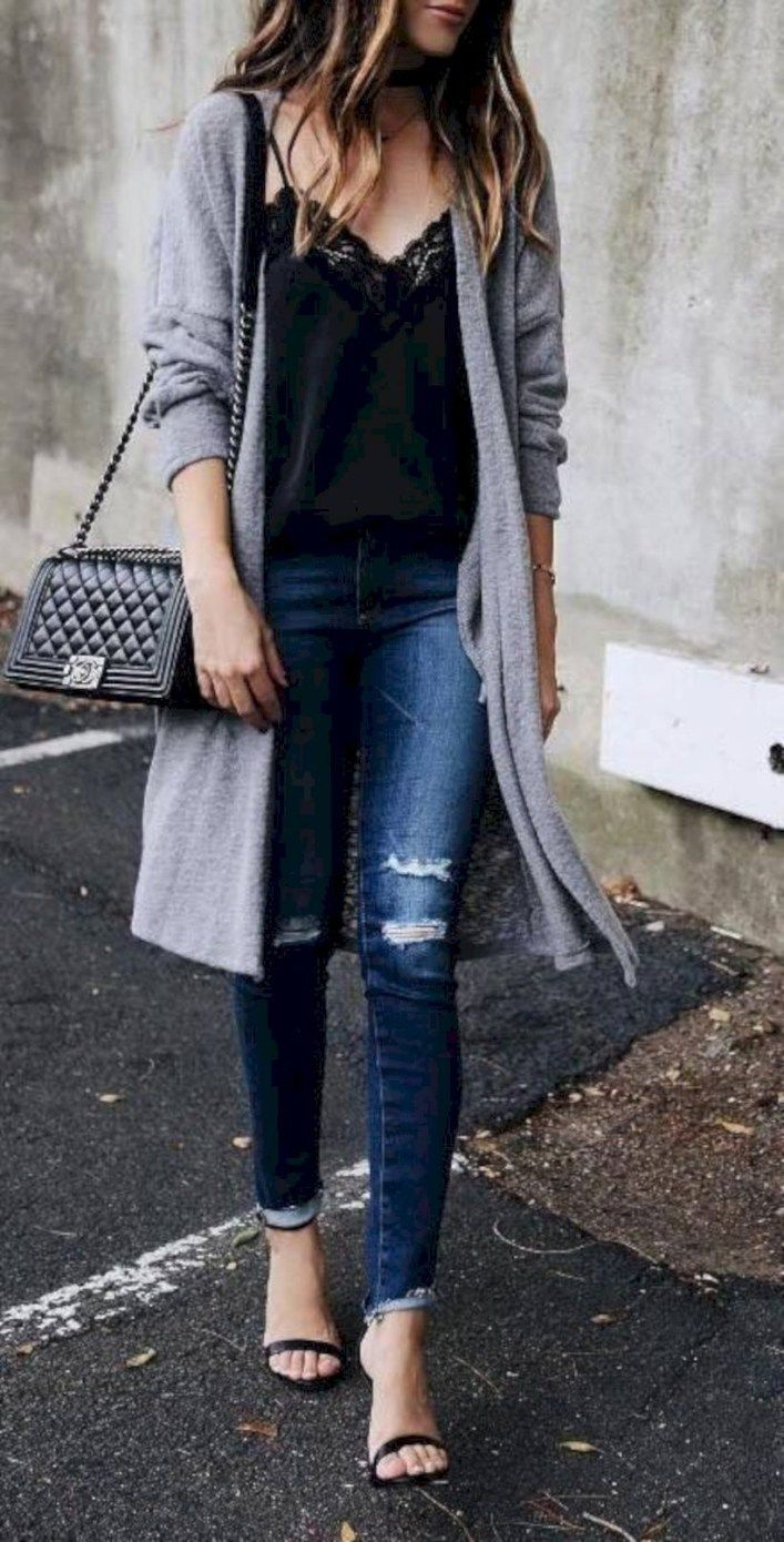 34 Best Fall Outfit Ideas With Cardigans For Women 99outfit Com Outfits With Grey Cardigan Cardigan Fall Outfit Fashion [ 1390 x 707 Pixel ]