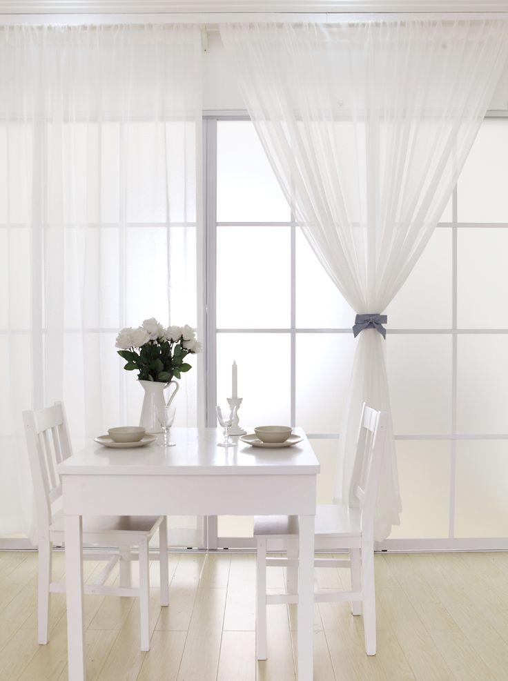 Cortinas decoracion de interiores cortinas decoracion de for Cortinas opacas blancas