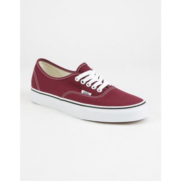Vans Authentic Shoes ($50) ❤ liked on Polyvore featuring shoes, sneakers, lacing sneakers, low top, laced shoes, low profile shoes and rubber shoes